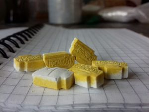Yellow and white 'Technogym' xtc mdma.jpg